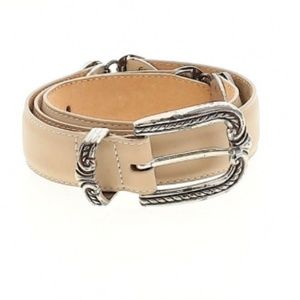 Brighton Tan and Antiqued Silver Leather Belt